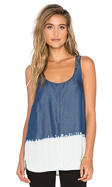 Wilder Tencel Tank in Indigo Polar Dip Dye