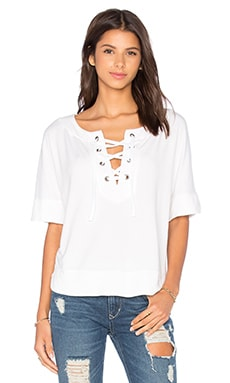 Splendid Cozy Modal French Terry Top in White