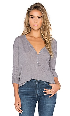 Heathered Long Sleeve Top en Shadow