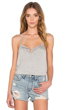 Rayon Jersey V Neck Tank in Heather Grey