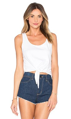 Splendid Baby Jersey Cropped Tank in White