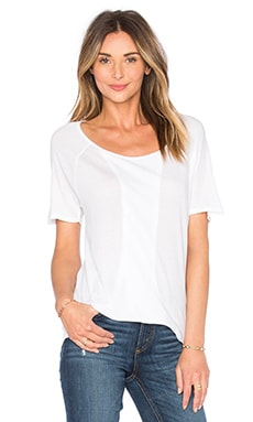 Very Light Jersey Scoop Neck Tee in White