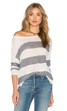 Splendid Frontier Stripe Top in Natural & Navy