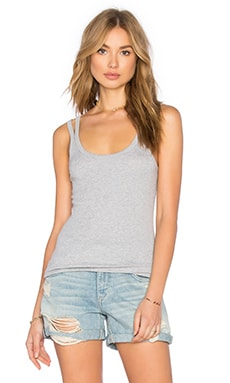2 X 1 Tank in Heather Grey