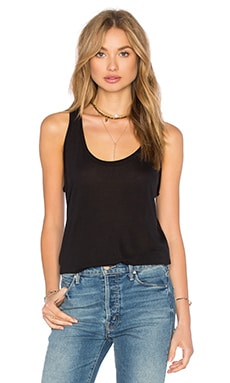 Splendid Yuma Garment Dye Jersey Tank in Black