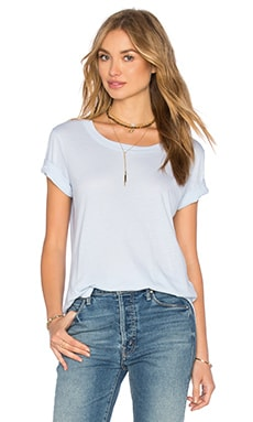 Modal Cotton Jersey Tee in Crystal Blue