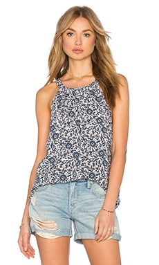 Friesian Floral Print Top en Blanco