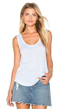 Slub Jersey Tank in Crystal Blue