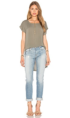 Splendid Hi Low Tee in Military Olive