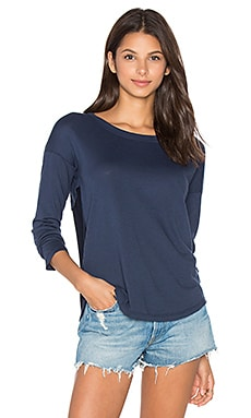 Very Light Jersey Long Sleeve Top in Navy