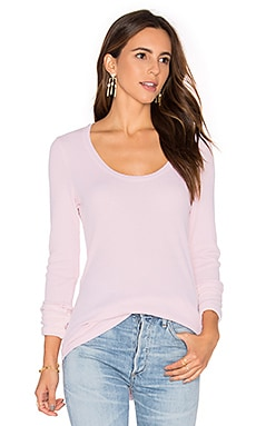 Nordic Thermal Long Sleeve Scoop Tee in Porcelain Rose