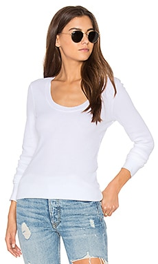 Nordic Thermal Long Sleeve Scoop Tee in Paper