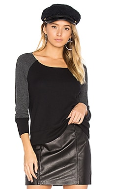 Thermal Mixed Media Top in Black