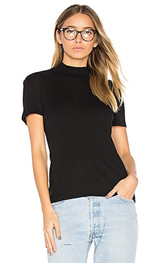 1 X 1 Mock Neck Top in Black