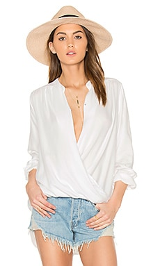 Crosshatch Blouse in White