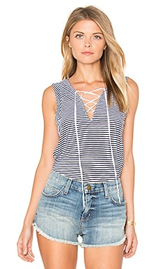 Taft Point Mini Stripe Tank in White