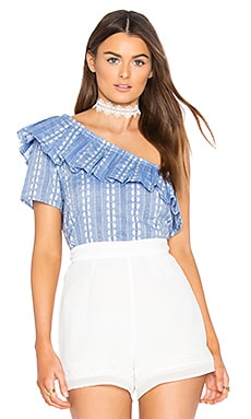Chambray Jacquard Top in Chambray