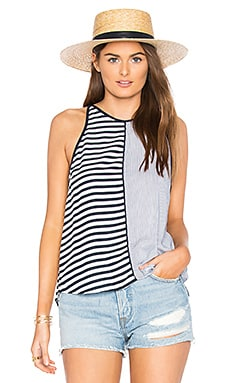 Boardwalk Stripe Tank in Navy