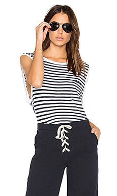 French Stripe Tank in White & Navy