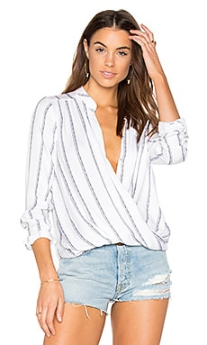 Rope Stripe Print Blouse