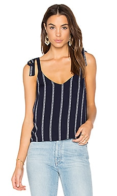 Rope Stripe Print Cami in Navy