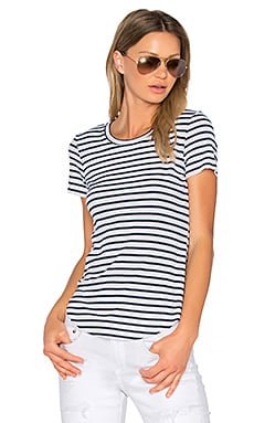 1X1 Venice Stripe Tee in White