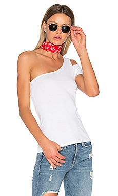1X1 One Shoulder Top in White