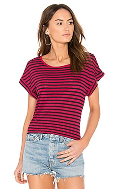 French Stripe Tee in Beet Red