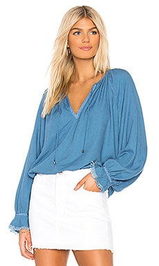 Long Sleeve Peasant Top Splendid $76