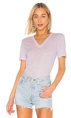 Everly Short Sleeve V Neck Tee Splendid $36