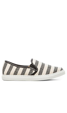 Splendid Seaside Slip-On in Black Stripe Herringbone