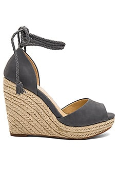 Dara Wedge in Steel Blue