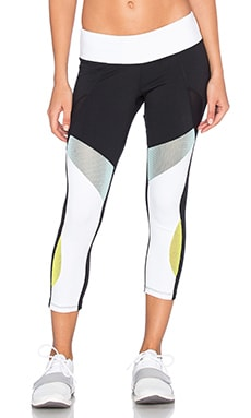 Splits59 Odyssey Legging en Black, White, Turquoise, & Citric