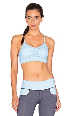 Splits59 Brigitte Sport Bra in Light Chambray