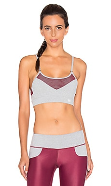 Splits59 Allegra Sport Bra in Mojave & Light Heather Grey & Mojave
