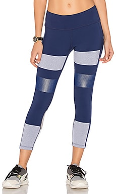 Rebel Performance Capri in Navy, Light Heather Grey & Silver