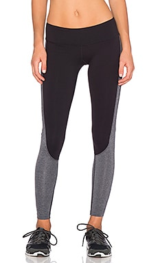 Splits59 Langley Slim Fit Pant in Black & Heather Grey