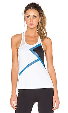 Splits59 Sabrina Matrix Racerback Tank in White, Glory & Black