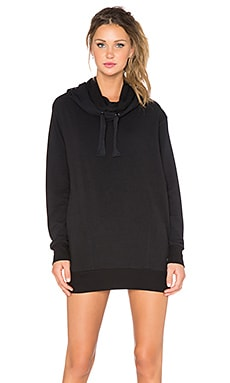 Splits59 Kinsley Noir Tunic Length Hoodie in Black