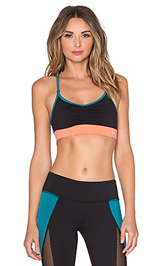 Splits59 Brigitte Sports Bra in Black & Mercer & Solar