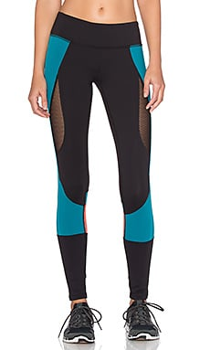 Splits59 Kym Reef Performance Legging in Black & Mercer & Solar
