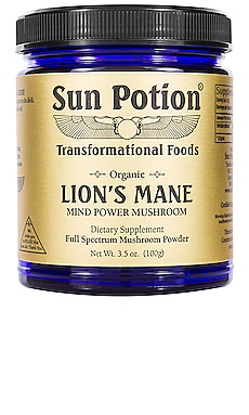 Mind Power Lions' Mane Organic Mushroom Powder Sun Potion $53 BEST SELLER