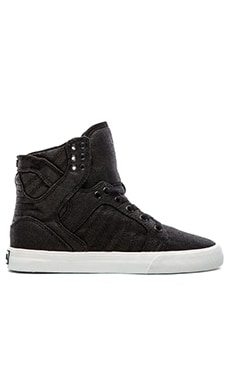 Supra Skytop High Top Sneaker in Black