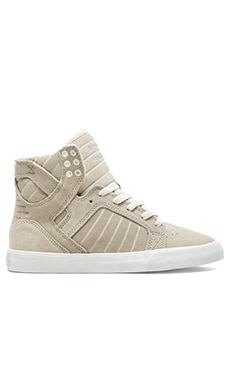 Supra Skytop High Top Sneaker in Cream