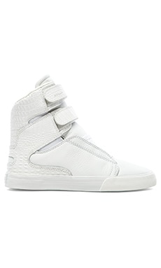 Supra Society II High Top Sneaker in White