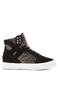 Supra x Elyse Walker Skytop Wedge Sneaker in Black & White