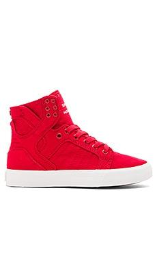 Supra Skytop Sneaker in Red