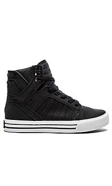 Supra Skytop Satin Sneaker in Black