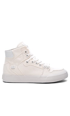Supra Vaider D High Top Sneaker in Off White