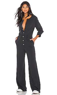 Button Down Jumpsuit Spiritual Gangster $148